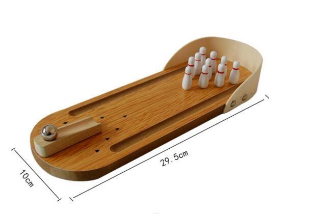 Chaude en bois jouer jeux mini bureau quilles créatifs pour enfants
