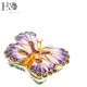H&D Butterfly Trinket Box Hinged Small Jewelry Bejeweled Trinket Boxes Figurine Collectible Gift