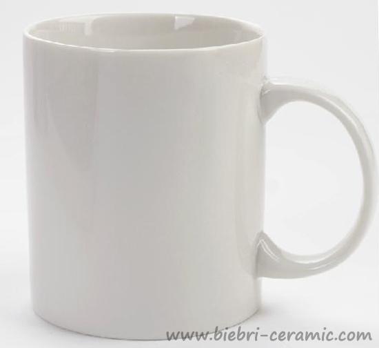 Excellent Quality Logo Decal Artwork Printable Plain White Porcelain Mugs  Wholesale