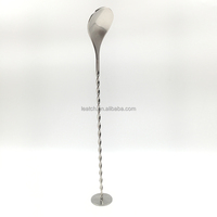 Stainless Steel Mixing Spoon Spiral Pattern Bar Coffee Cocktail Shaker Spoons