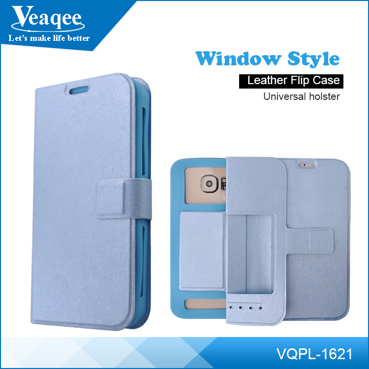 Veaqee PU+Silicon phone case,leather flip case for iphone ,phone case factory in China