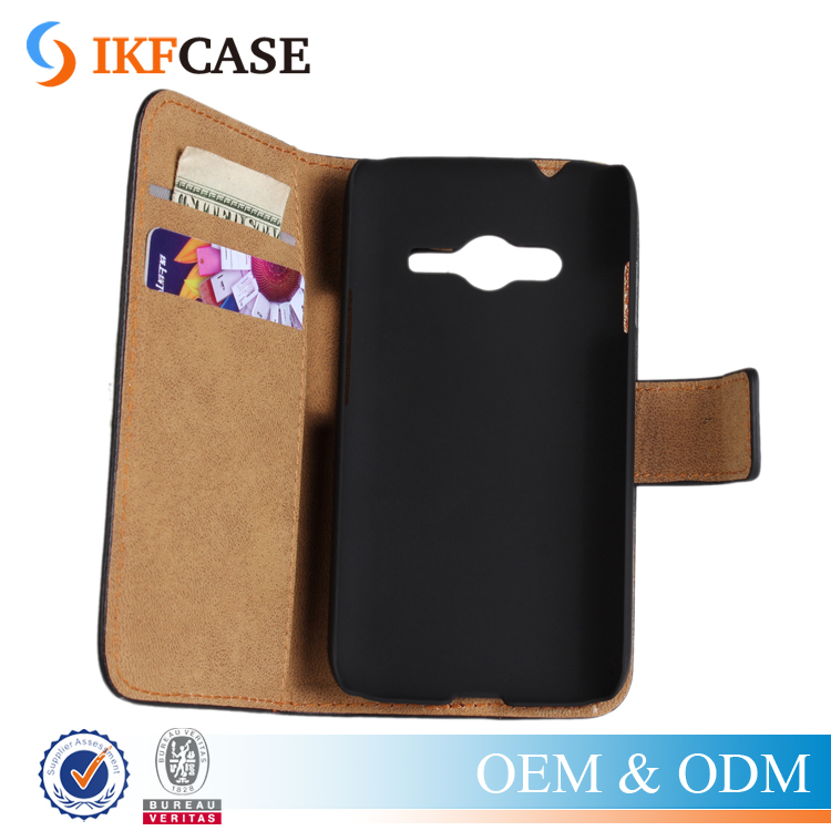 Wallet Genuine Leather Case For Samsung Galaxy Ace 4 G313 Protective Flip Case