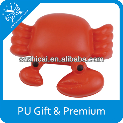 promotional gift giveaway ideas animal shape promotional gift crab shaped pu stress ball pu antistress crab