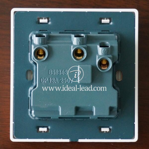 13A UK 1 Gang Switched Wall Socket with Neon - 1