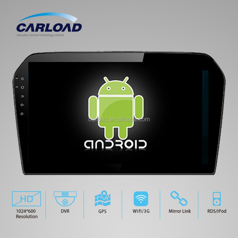 Double din Android 4.4 dual core 10.2in car dvd for VW Jetta with GPS, iPod, RDS, Wifi, 3G, mirror link functions