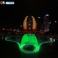 Colorful Music Dancing Water Fountain Show With Led Lights Performance