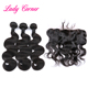 Double Drawn virgin human hair weave with Peruvian human hair 13x4 lace frontal