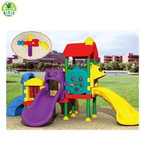 Non-toxic and solid plastic children slide playground components/gorilla play sets QX-072C