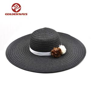Fashion women floppy summer beach sun hats f25078a73b32
