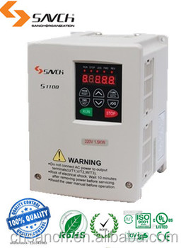 SANCH ISO 9001,ISO14001,OHSAS18001 3.7kw three phase 220v 380v Ac variable frequency inverter 50hz 60hz for general use