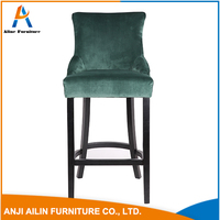 comfortable affordable price leisure green leather dining chair
