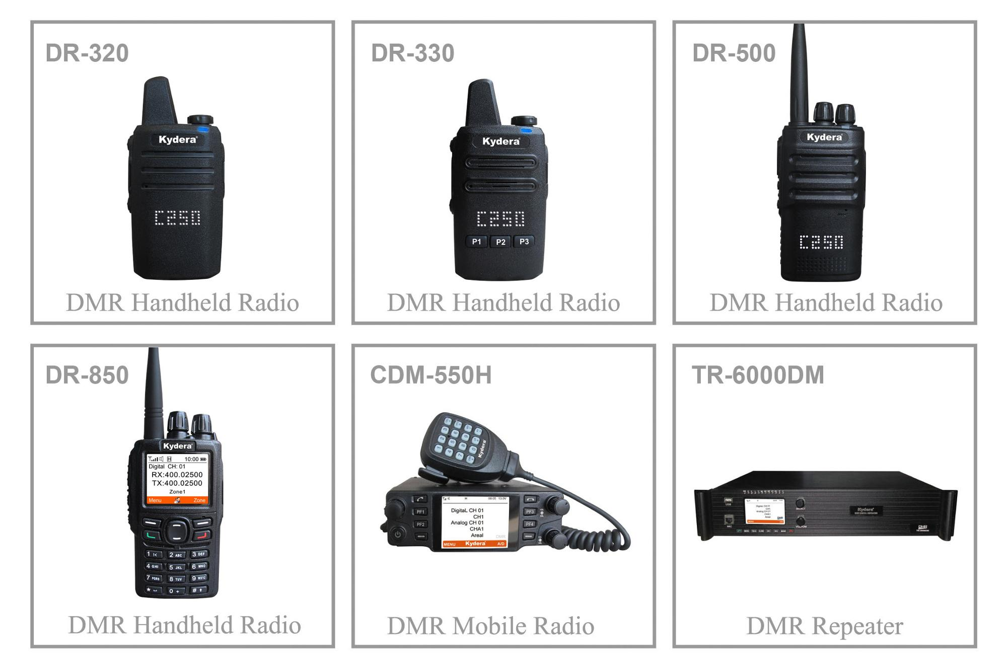Longue distance autoradio talkie-walkie CDM-550H tdma numérique mobile radio
