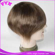 Free Shipping Indian Virgin Human Hair Wigs Fine Mono Lace ,8*10'' Natural wave 6'' hair system For Sale