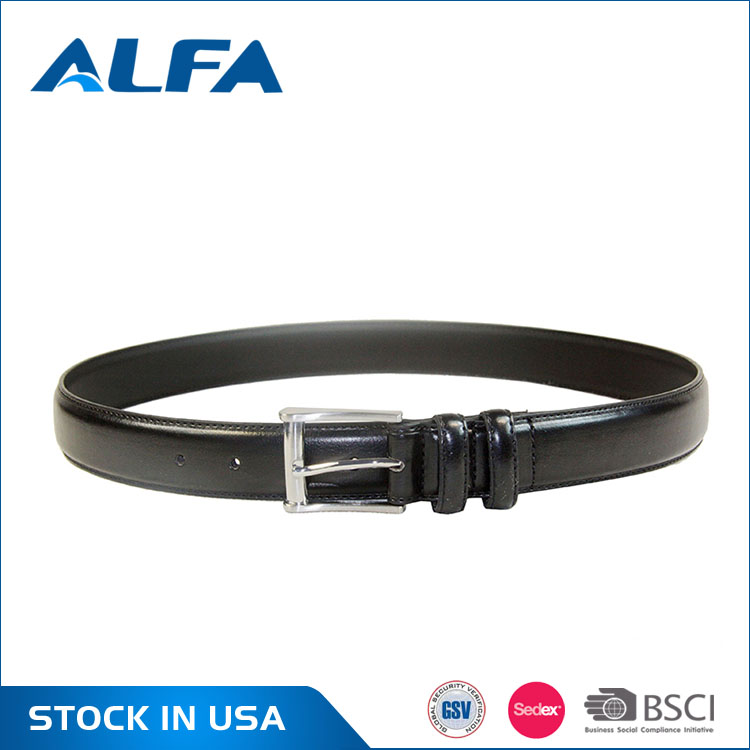 Alfa 2017 New Designs Pure Color Leather Belts