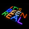 Printing Illuminated 3D outdoor flexible acrylic vivid led neon flex sign letters board custom led neon sign