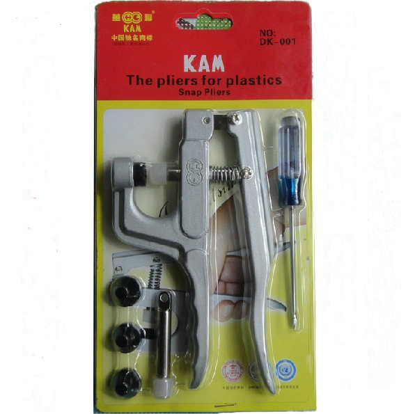 1 PCS/Lot High Quality  KAM Snap Fastener Pliers, KAM Snap Pliers For Plastics Fasteners Button (Item No. KAM DK-001)