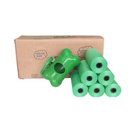 Amazon best selling plastic biodegradable dog poop bags with dispenser