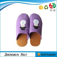 Free Sample Eco Frendly Soft Children Shoes Pure Handmade Felt Indoor Slipper For Kids