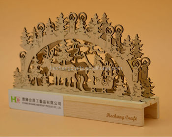 Wood Christmas Decorations.Laser Cutting Wooden Lighted Christmas Decoration View Lighted Christmas Decorations Hechang Product Details From Puyang Hechang Handicraft Product