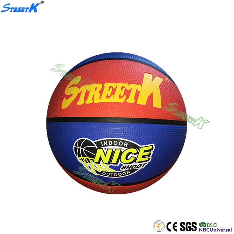 2016 streetk Wholesale cheap rubber basketball ball official mens size 7 usa basketball