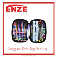2016 newest style 22pcs Aluminum Handle Crochet Hooks Knitting Needles Weave Yarn Set Portable Multi-color Mixed