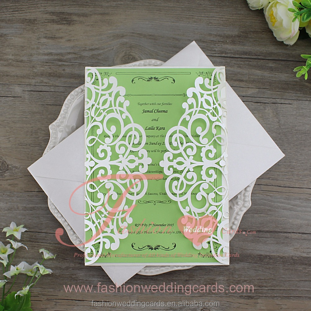 Chinese square shape elegant wedding invitation for friends
