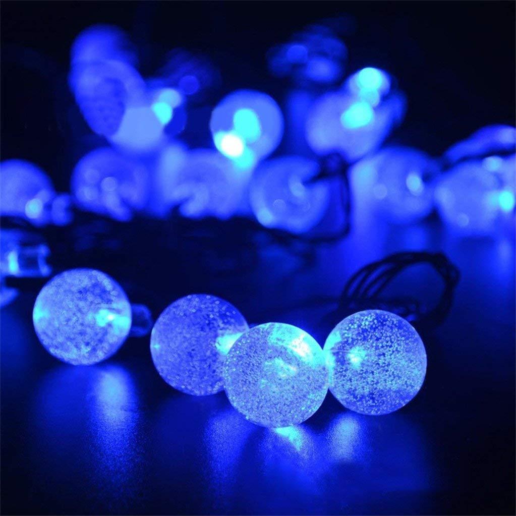 super1798 30 LED Bulbs Solar Power String Light Christmas Wedding Party Garden Decoration - Blue