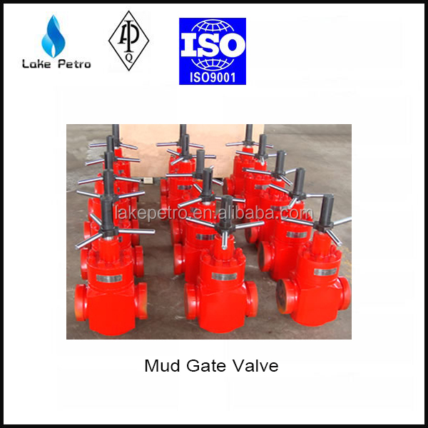 API 6A mud gate valve from 2000 PSI to 5000 PSI for oil and gas industry