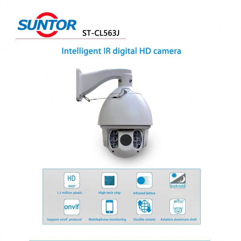 1.3Mega pixel economical HD IR Speed Dome wireless surveillance camera