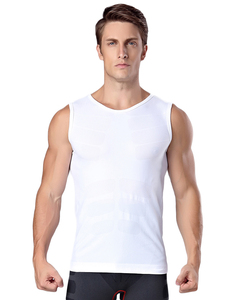 Wholesale Latest Design Lightweight White Quick Drying Vest Body Waist Shaper For Men