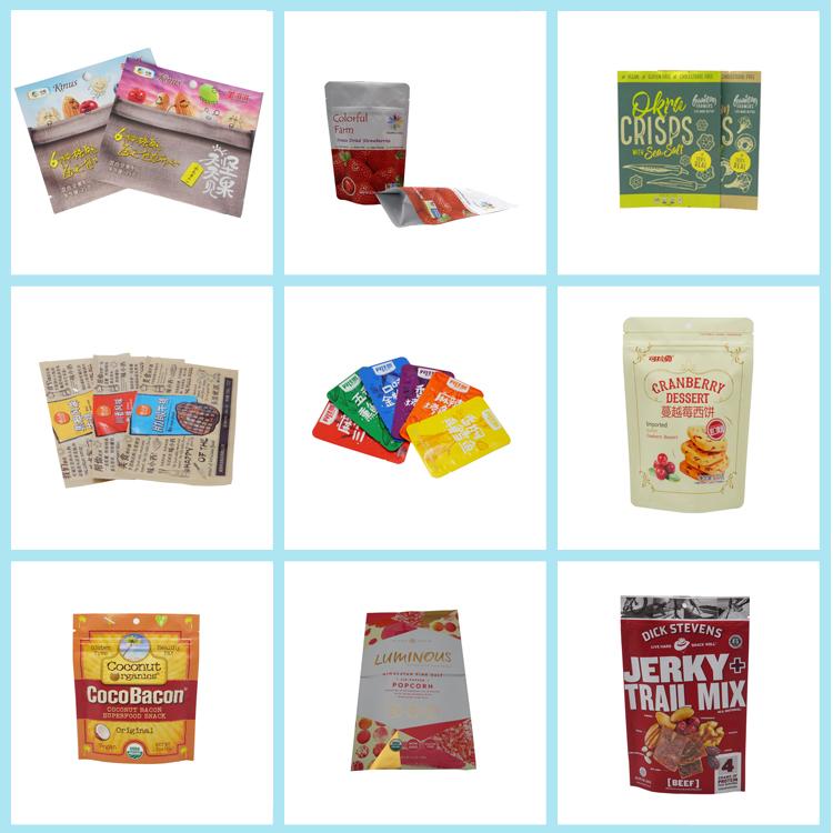 OEM Logo Printing Laminated Plastic Food Grade Packaging Sachet Bag