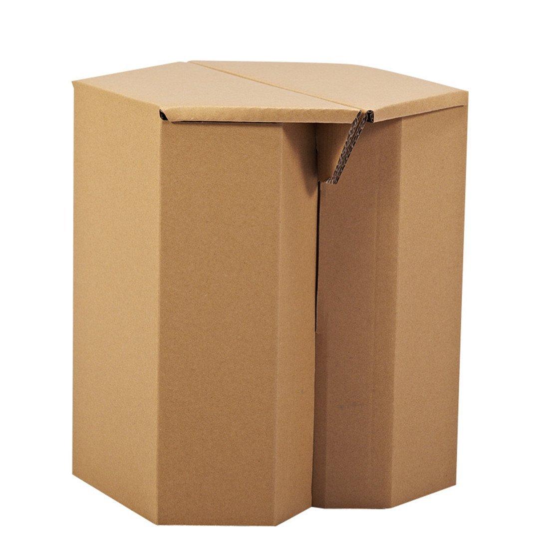 Get Quotations Paper Maker Diy Cardboard Hexagon Chair Children S Furniture 01hexagon Brown