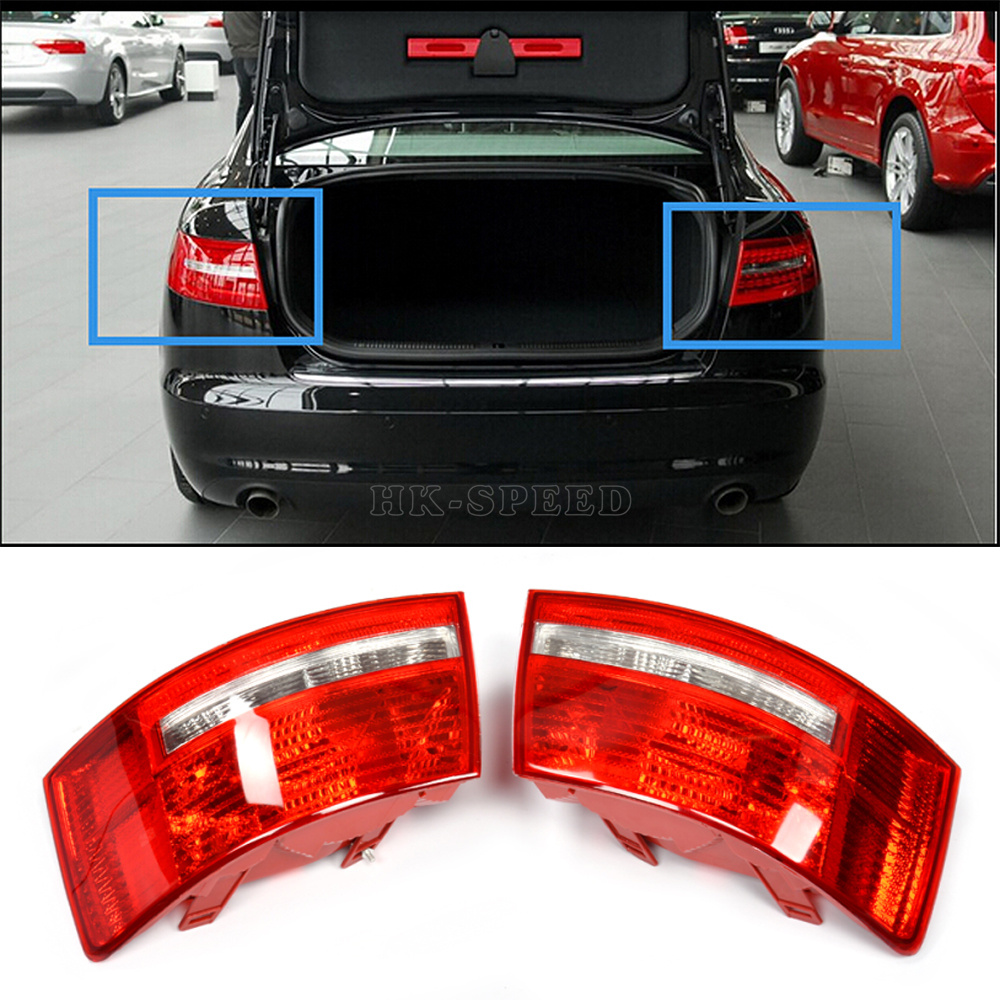 A6 C6 ABS Car Rear Tail Lamp Light Covers For Audi A6 C6
