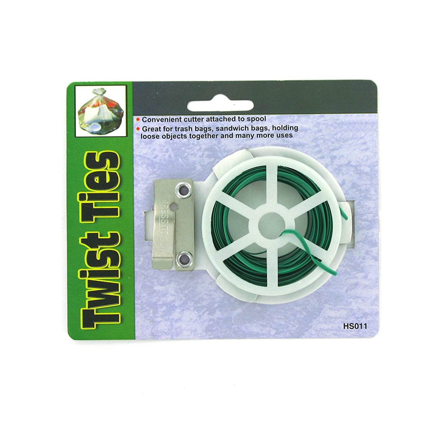 123-Wholesale - Set of 36 Twist Ties with Reel - Lawn & Garden Garden Tools