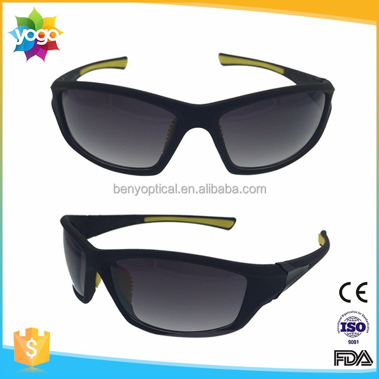 Stock UV 400 protected custom wrap winter sports sunglasses with OEM and ODM