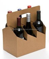 die cut luxury hot selling wholesale 6 Pack Cardboard beer bottle carrier wine bottle carrier