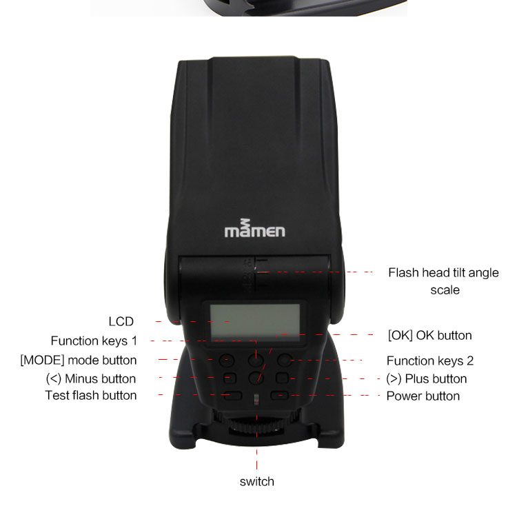 Fabricage Camera Flitslicht KM-200 Met TTL Speedlite flash speedlight Voor Canon