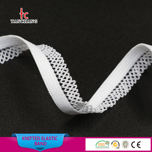 factory wholesale 11mm fashion knitted elastic band knitted elastic tape for underwear TC09