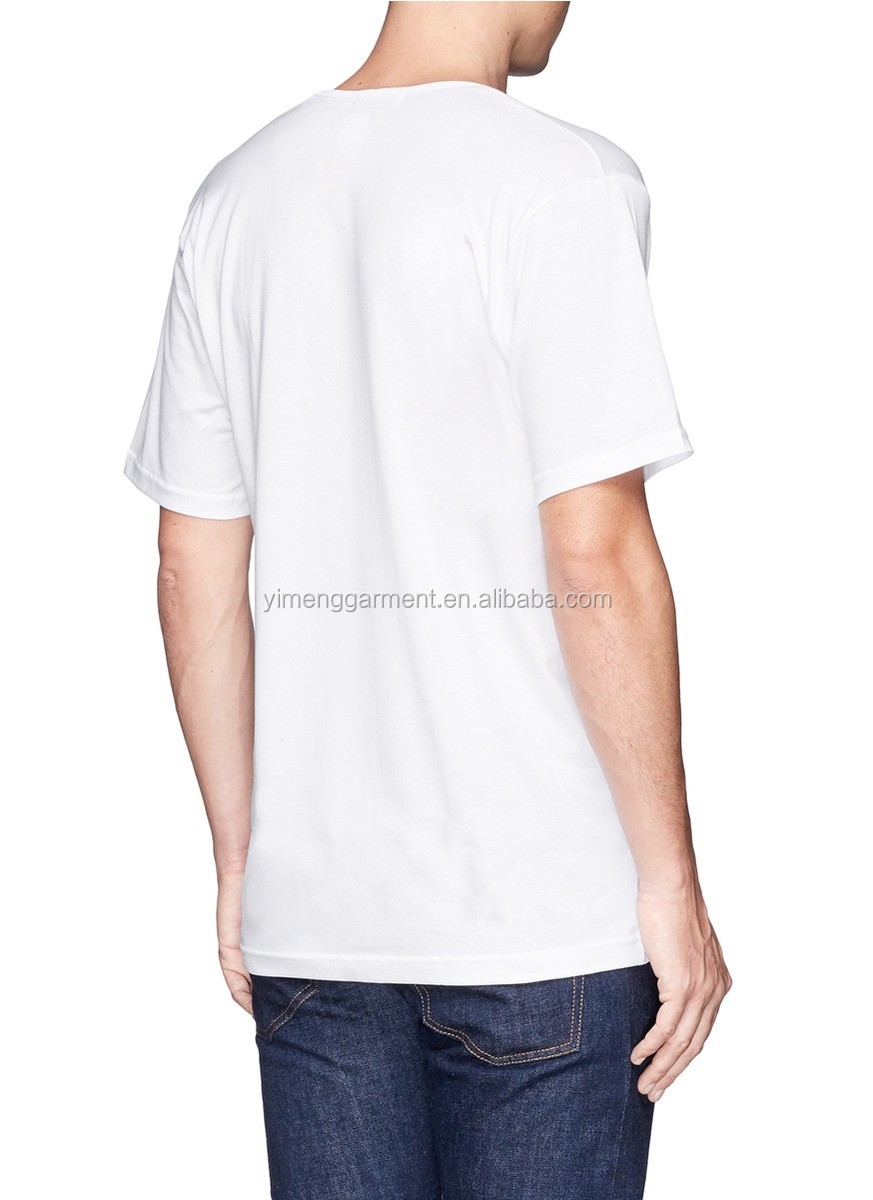 High Quality White T Shirt V Neck Cotton Manufacturing In