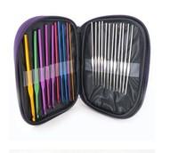 High Quality 22Pcs Set Multi-colour Aluminum Crochet Hooks Needles Knit Weave Craft Yarn