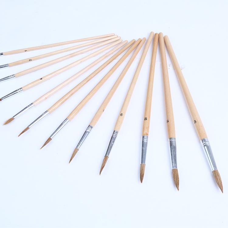 bureau fournitures scolaires art peinture brush set en gros pas cher soie de porc manche en. Black Bedroom Furniture Sets. Home Design Ideas