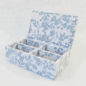 CE good quality chic fabric covered wooden jewellery storage box