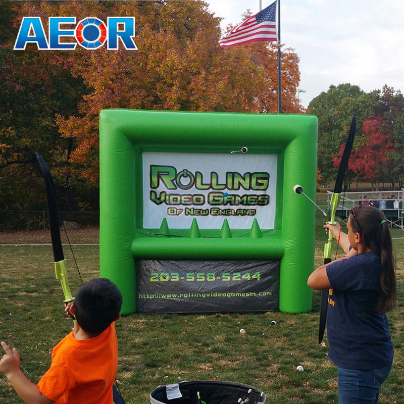 green color inflatable archery,inflatable archery game,archery tag inflatable for adults