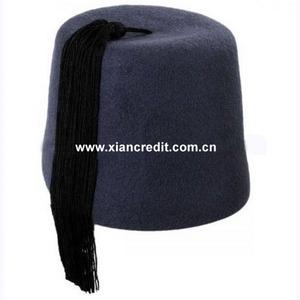 d86352823 Comfortable fit handmade woollen felt fez hat with nice tassel