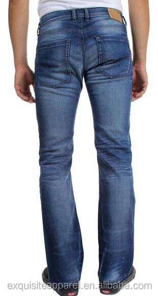 Custom 100%cotton Slim Boot Cut Jeans For Men/mens Bootcut Cheap