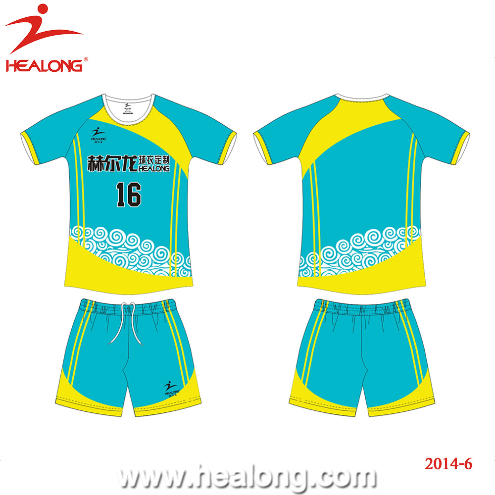 2dfceceb54b Healong Sublimation Dry Fit Volleyball Jersey Colors