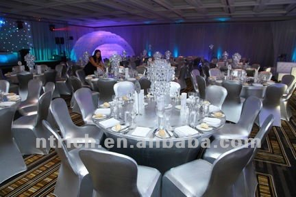 Luxury Bronzing Silver Chair Cover