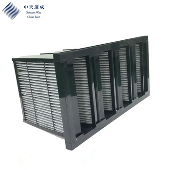 Cheap price activated carbon V Shape V bank air filter
