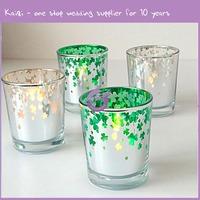 KA337 wedding colorful Exquisite elegant design glass angel candle holder
