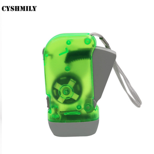 Promotion outdoor 3 led hand pressing flashlight hand crank dynamo self charging flashlight